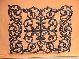 cast iron fireplace screens cast iron fireplace screen large cast iron scrollwork fire screen with doors