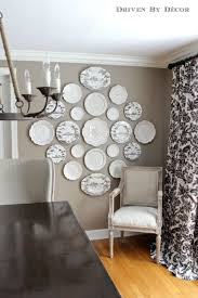 attractive accessories for wall decoration with hanging wall plates beauteous home interior decoration using black