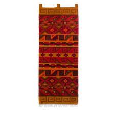 peruvian geometric wool tapestry wall