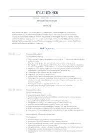 Production Resume Samples Templates Visualcv