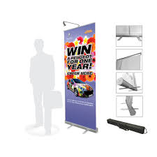Retractable Display Stands 100100cm Economical Aluminum Retractable Roll Up Banner Display 58