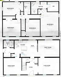 pole barn house plans 4 bedrooms awesome simple two story house plan best 4 bedroom floor
