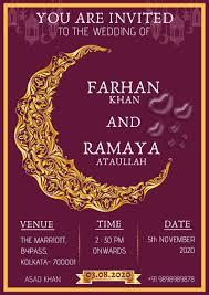 700+ vectors, stock photos & psd files. Muslim Wedding Invitation Cards For Friends Gallery Luomo Web Wedding