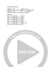 Simple Chord Chart Simple Song Chords G3 Kids Praisecharts