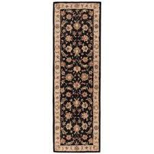 jet black 4 ft x 16 ft oriental runner rug