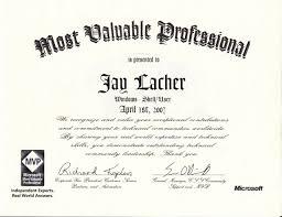 Mvp Certificate 2007