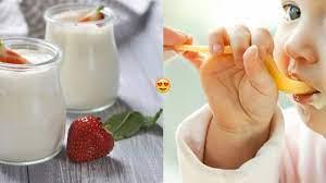 2 thời điểm vàng mẹ nên cho bé ăn sữa chua trong ngày