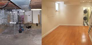Unique Unfinished Basement Before And After Size Of Interiorunfinished For Creativity Design
