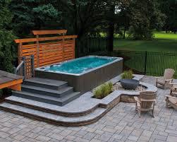 modern above ground hot tub