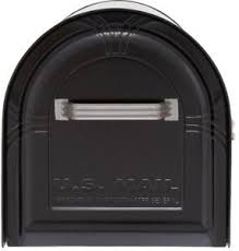 Internal Locking System Post Mount Hopper Mailbox with Mail