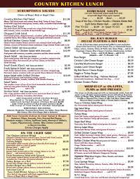 Country Kitchen Coral Springs Menu