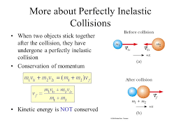 objects stick together after the collision they have undergone a perfectly inelastic collision conservation of momentum kinetic energy is not conserved