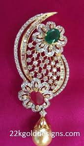 ruby emerald diamond pendant