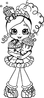 Small Picture Popcorn Shopkins Girl Coloring Page Wecoloringpage
