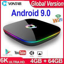 Q Plus Smart TV Box Android 9.0 TV Box 4GB RAM 32GB/64GB ROM Quad Core  H.265 USB3.0 2.4G WiFi Set Top Box 4K TVBOX Media Player|Set-top Boxes