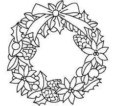 Small Picture Christmas Wreath Coloring Page Part 2 Free Resource For Teaching