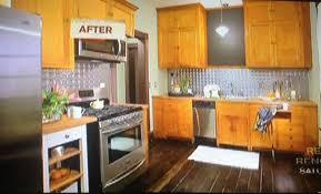 Tin Backsplashes For Kitchens Nicole Curtis Rehab Addict Harriet House Kitchen Love The