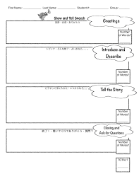 Template For A Speech 3 Show And Tell Speech Template