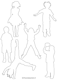Sagome Di Bambini Da Colorare E Ritagliare Pianetabambiniit