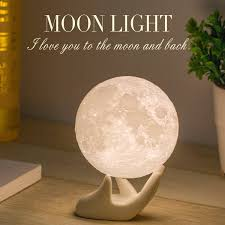 com mydethun moon lamp moon light night light for kids gift for women usb charging and touch control brightness two tone warm and cool white lunar