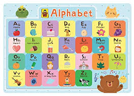 Uncle Wu Alphabet Chart Educational Placemat Waterproof Placemat