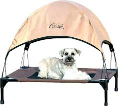 Outdoor Dog Bed With Canopy Image Of Elevated Shade Cover Pet ...