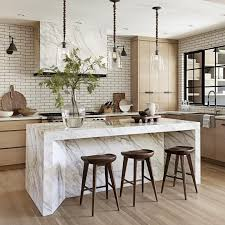 interior decorating top kitchen cabinets modern. Light Wood, White Range Hood, Wood Cabinets Marble Island Top And Sides, Modern Dark Stools, Subway Tile Grout. Nam Dang Mitchell Interior Decorating Kitchen A