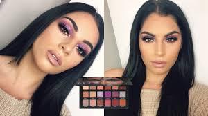 huda beauty desert dusk makeup tutorial