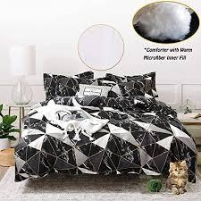 jumeey black comforter set king marble