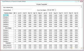 profit loss projection projected profit and loss statement template packed with excel free