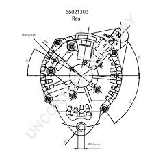 Hitachi alternator wiring diagram rear dim drawing