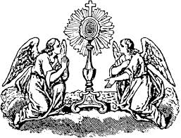 Adoration Angels And Monstrance Page To