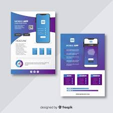 Basic Flyer Template Mobile App Flyer Template Vector Free Download