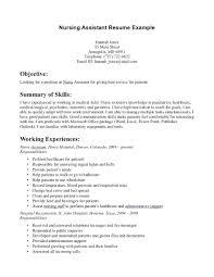 Resume Resume Template For Nursing Assistant