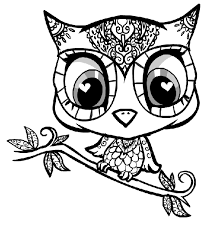 Small Picture Cute Owl Coloring Pages Coloring Page For Kids Kids Coloring