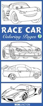 Small Picture Printable Race Car Coloring Pages Preschool Transportation