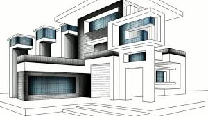 modern architecture sketch.  Sketch ARCHITECTURE SKETCH SPEED DRAWING BLACK AND WHITE MODERN HOUSE On Modern Architecture Sketch T