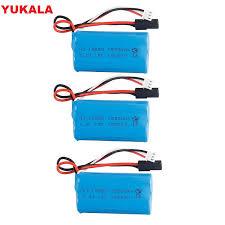 YUKALA 1 <b>3PCS</b> 7.4v <b>1500mah</b> Li ion battery 15c 18650 for ...
