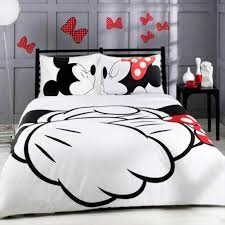 mickey mouse bedding set cartoon kids favorite home textiles plain printed stylish bedclothes single double queen