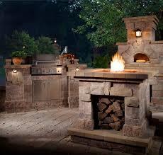 outdoor kitchen lighting ideas. outdoor brick oven pizza kitchen with lighting ideas d
