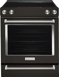 kitchenaid 6 4 cu ft self cleaning slide in electric convection range