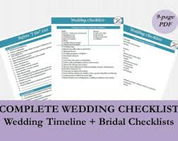 complete wedding checklist black white gold wedding planner pdf printable bridal