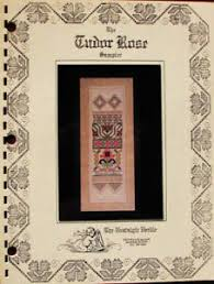 Needle Thread Chart Details About Nostalgic Needle The Tudor Rose Sampler Counted Thread Chart Pattern