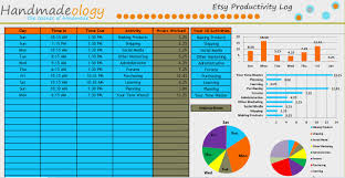 time management log the etsy productivity log time management tool pro handmadeology