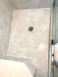 repair ed shower pan bathrooms terrazzo shower base cleaning polishing project pan