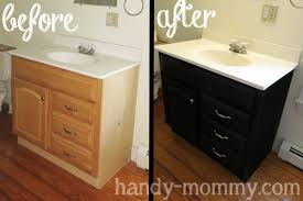 Refinishing Bathroom Vanity Makeover Repainting Bathroom Vanity Stunning Refinishing Bathroom Vanity