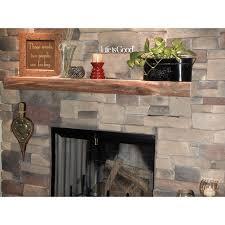 image of wood mantel shelves style