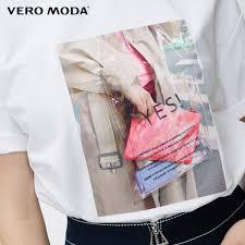 Женская свободная <b>футболка с круглым</b> вырезом и принтом Vero ...