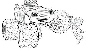 Blaze Coloring Pages To Print Fascinating Monster Truck Coloring