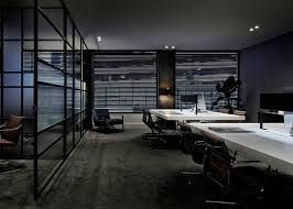 modern office space. Dark Modern Office,modern Work Place,dark Space Office